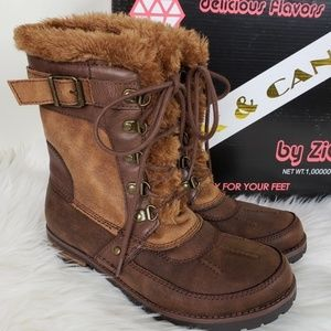 Rock & Candy Faux Leather & Fur Boots